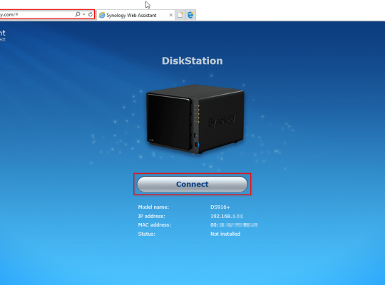 installation nas synology ds218j